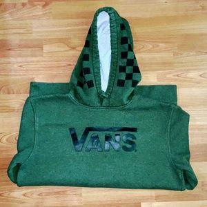 Vans Men's Green Hoodie Size Medium